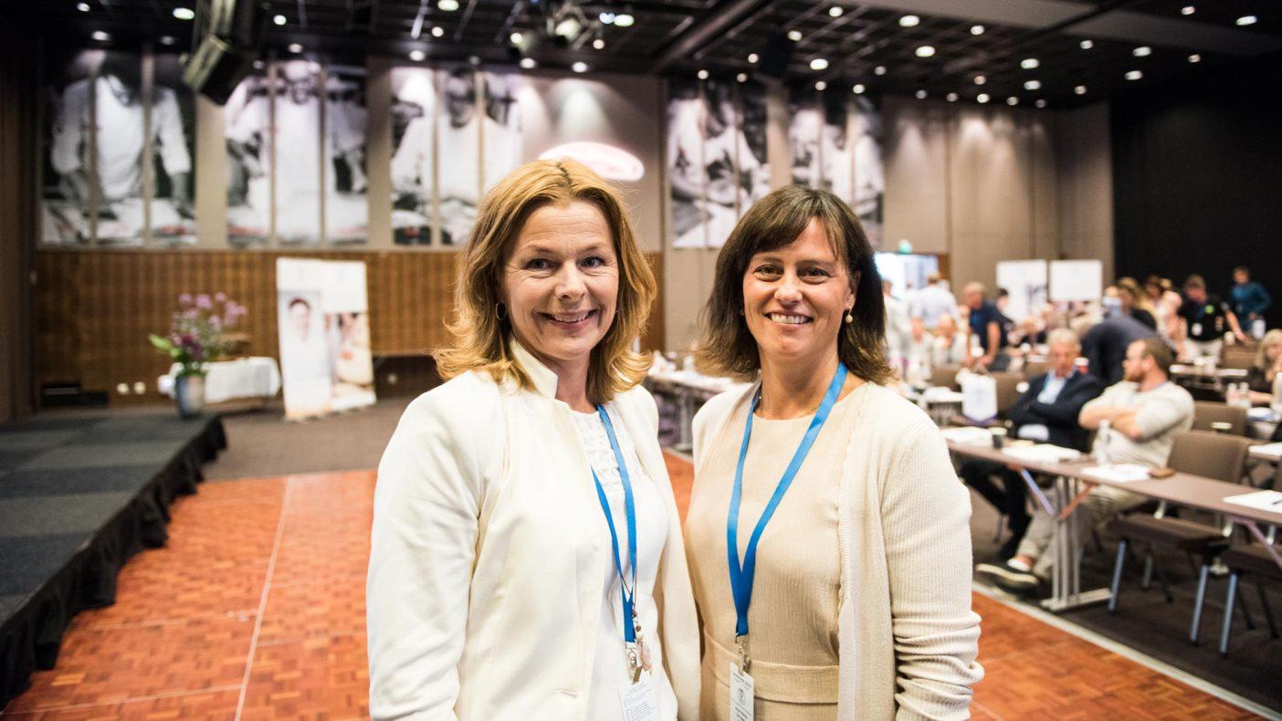 Anne-Grete Haugen (t.v.) og Anne Marie Schrøder i Matvett legger frem nye spennende tall i en ny studie. Nå skal tallene forfølges videre med praktiske eksperimenter.