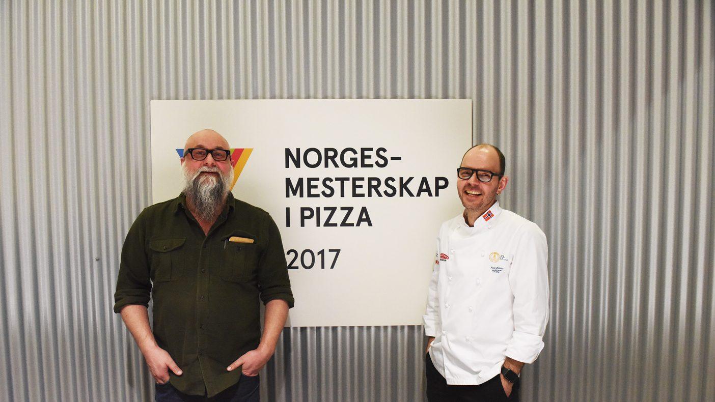 Eirik Sevaldsen og André Løvaas kunne glede seg over et høyere nivå i årets pizza-NM der bunnen avgjorde.
