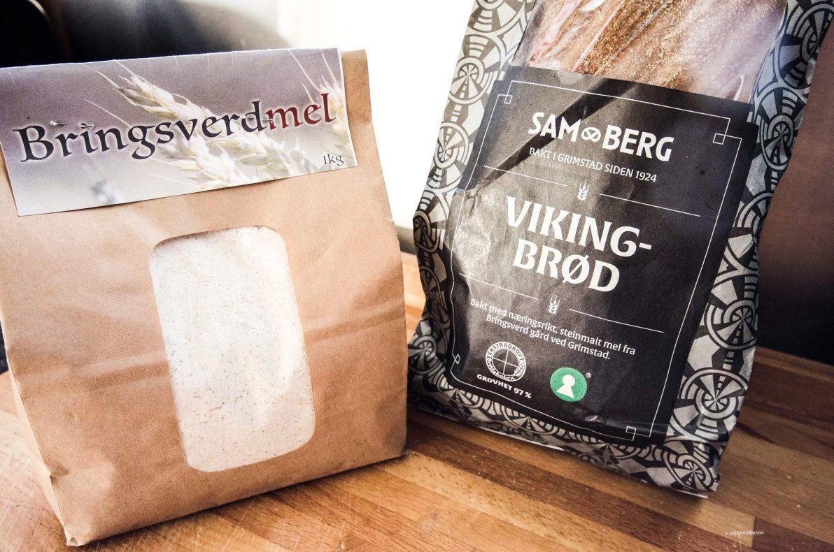 Vikingbrød er et resultat av samarbeidet mellom bakeriet Sam Berg og kornbonden Tor Helge Arnevik, som driver Bringsverd gård. Foto: OBK