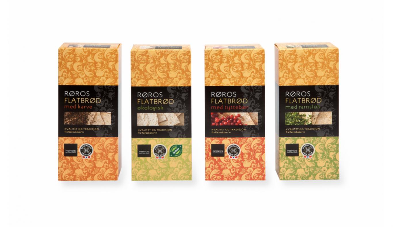 Alle de fire nye flatbrødtypene fra Rørosbaker'n har fått Spesialitet-merket. Foto: Rørosbaker'n