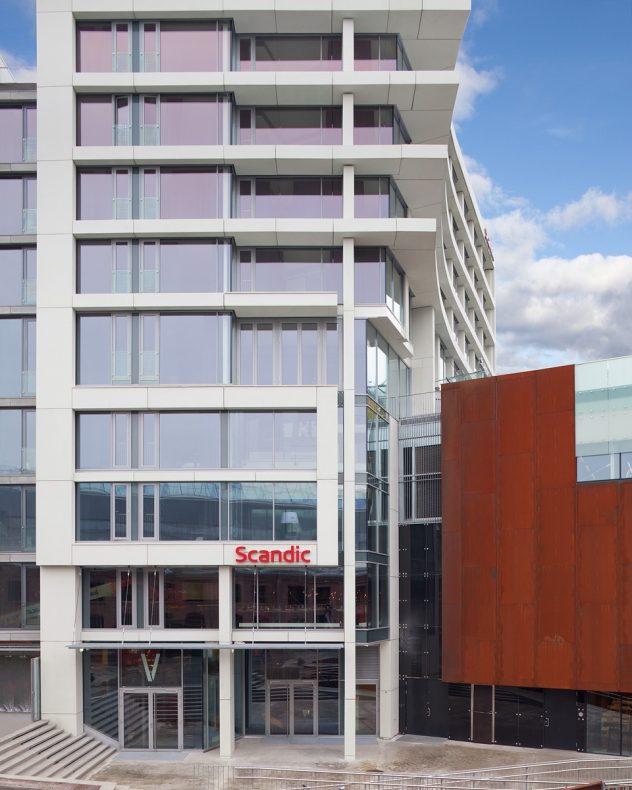 Landsmøte-hotellet Scandic Vulkan ligger rett ved Mathallen i Oslo.