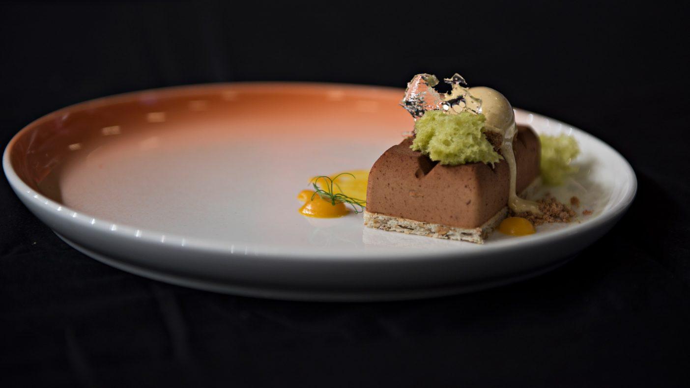 Det mest spesielle på smak i Norges bidrag er desserten som i hovedsak er laget av gresskar.