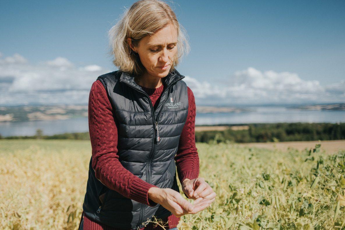 Camilla Rostad, daglig leder Holmen Crisp. Nå vil flatbrødprodusenten fra Toten ut i verden.