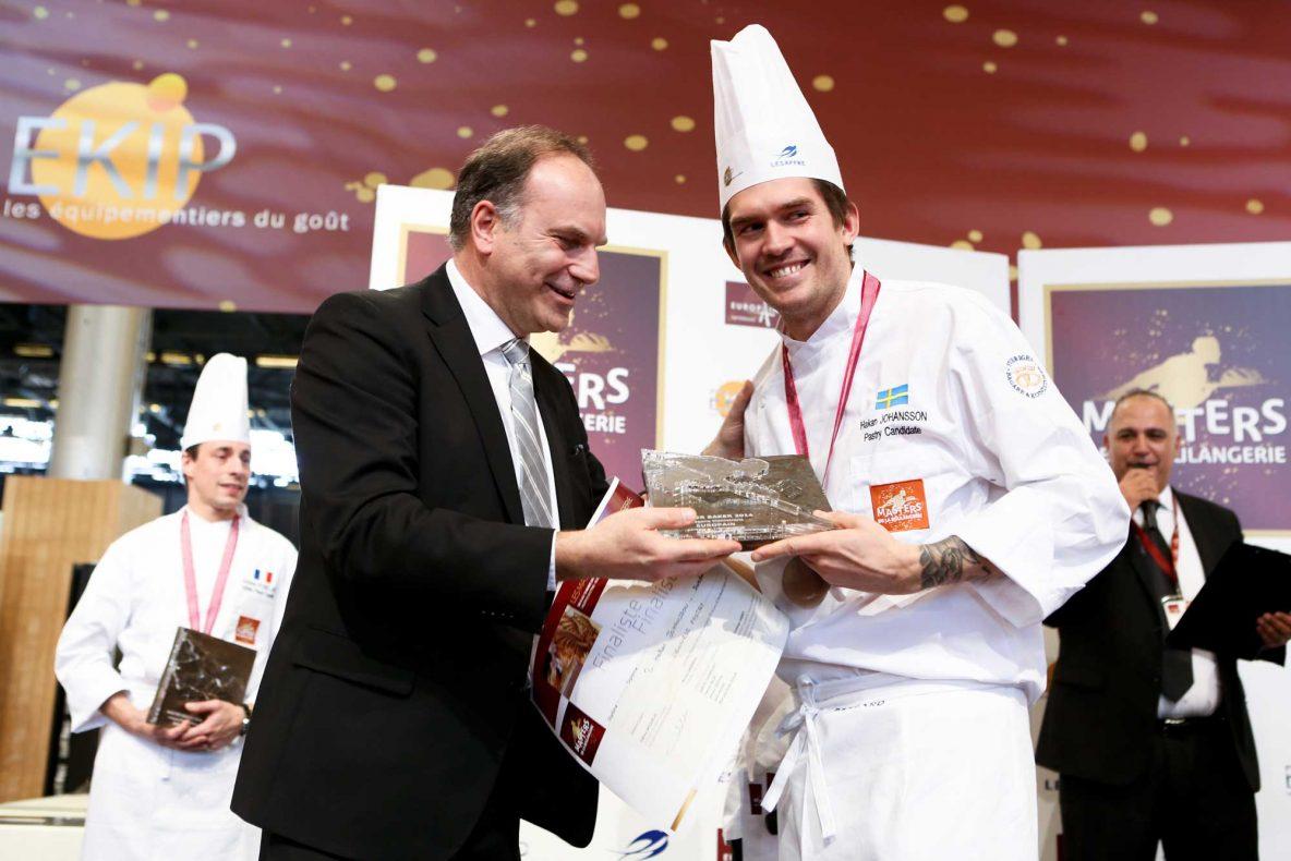 Svenske Håkan Johansson vant klassen for wienerbakst i Masters de la Boulangerie 2014.