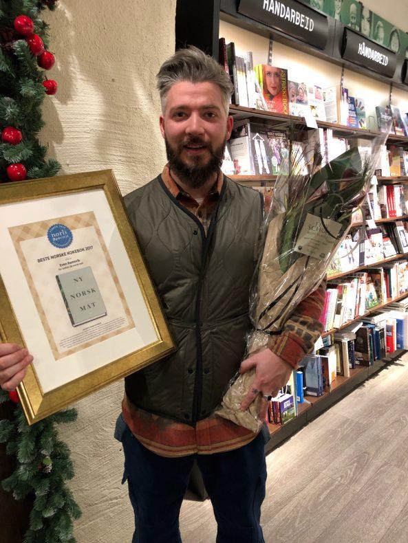 Even Ramsvik, tidligere sjef på Ylajali, vant prisen «Beste norske kokebok 2017».