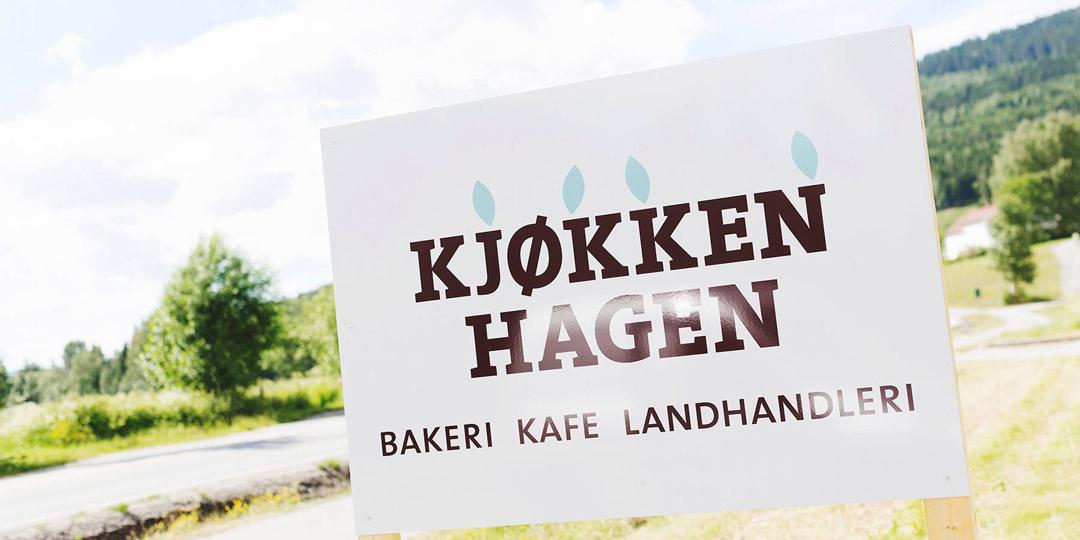 I Kjøkkenhagen i Hurdal Økolandsby er det både bakeri med tilhørende kafé og et landhandleri.