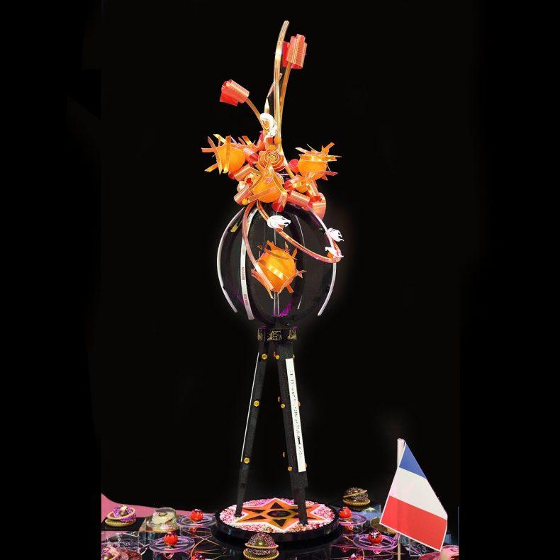 Astrologi var tema for årets Pastry Queen-konkurranse, og dette er skulpturen til den franske vinneren.