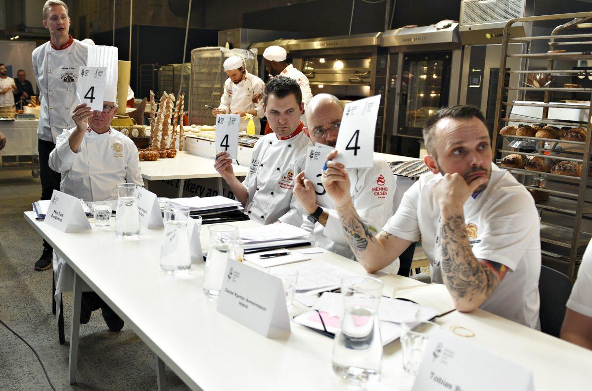 Juryen i Nordic Bakery Cup 2018 bedømte årets prestasjoner i et åpent system der poengene ble gitt samtidig av alle dommere.