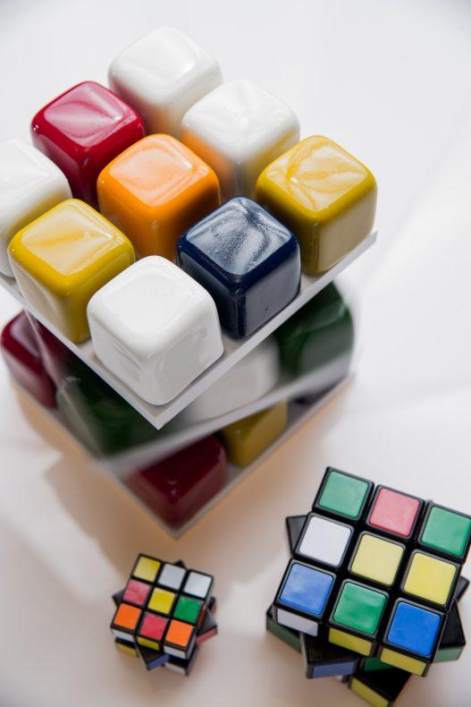 Rubik's kake er et annet av signaturproduktene til Cédric Grolet.