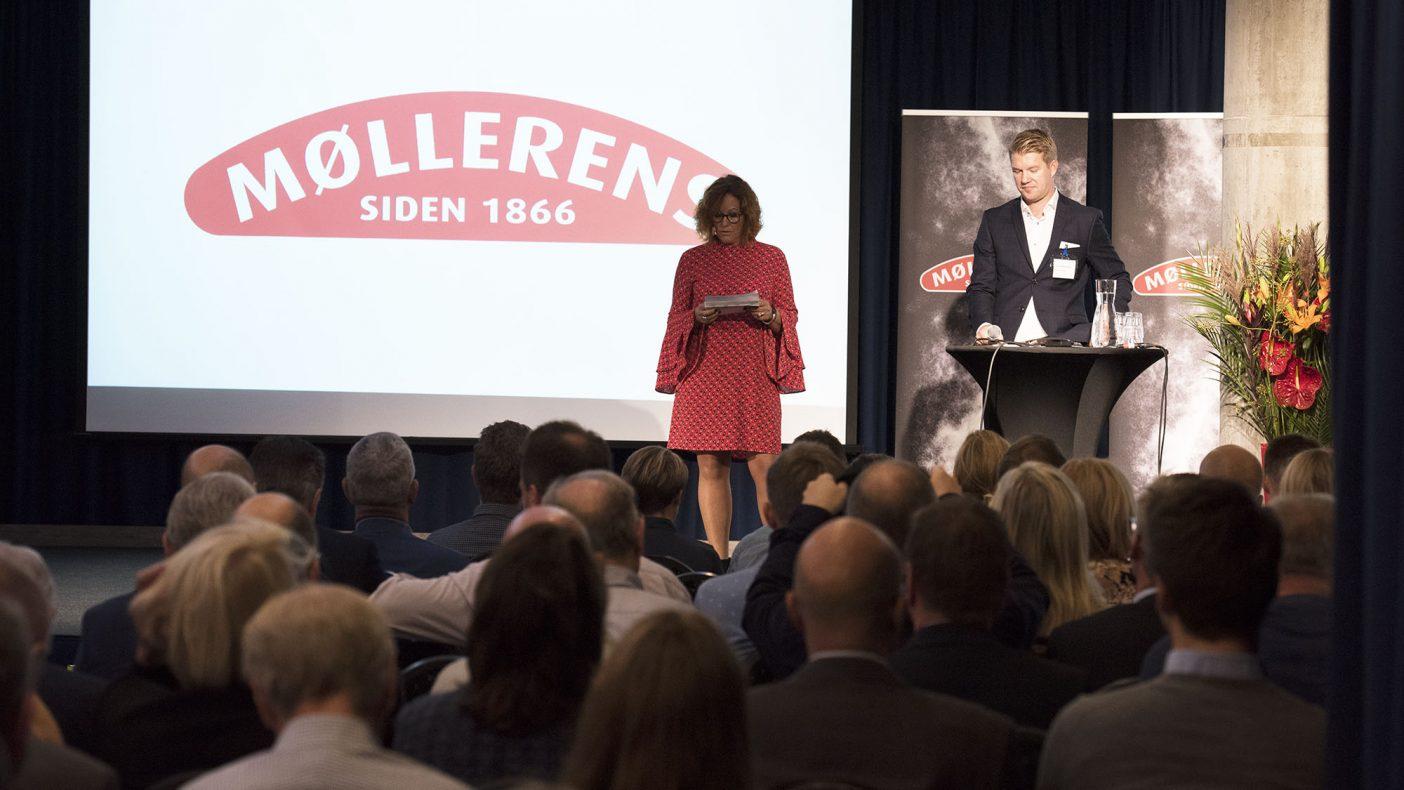 Elisabeth Viken Klokkervold og Jan Erik Eikeland i Norgesmøllene ønsket velkommen til Møllerens Inspirasjonsdag 2018.