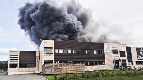 Omfattende skader etter brannen