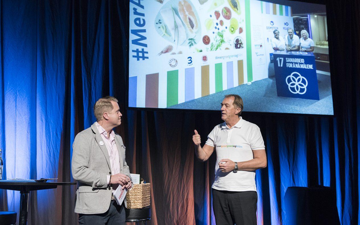 Informasjonssjef i Sjømat Norge, Øyvind Haram og daglig leder i BKLF, Gunnar Bakke oppsummerte konferansen.