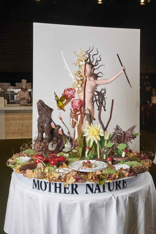 Sveriges sukker- og sjokoladeskulptur.