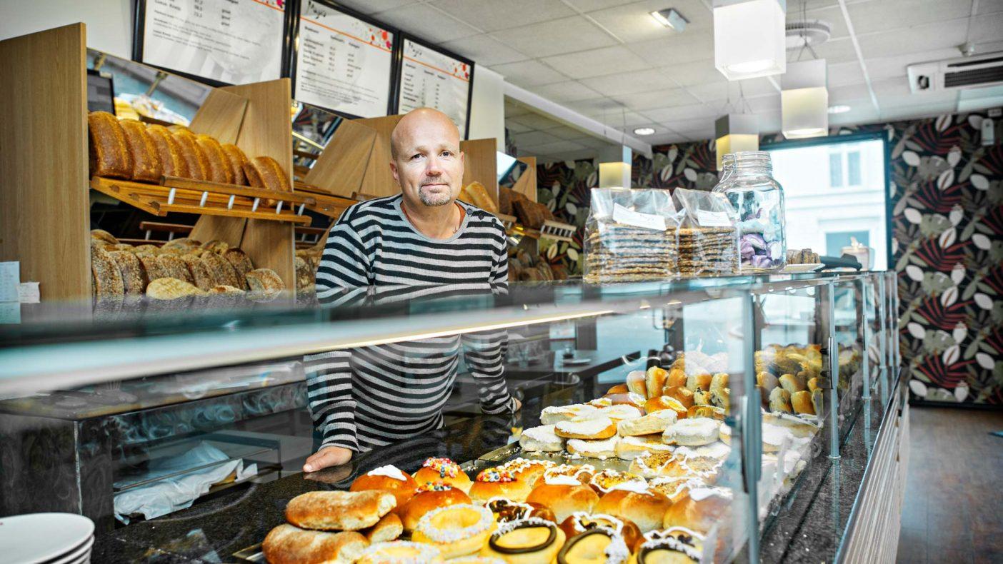 Pål Taklo, eier av Majas Bakeri i Larvik er blant de nominerte til Årets Bakeri 2019.