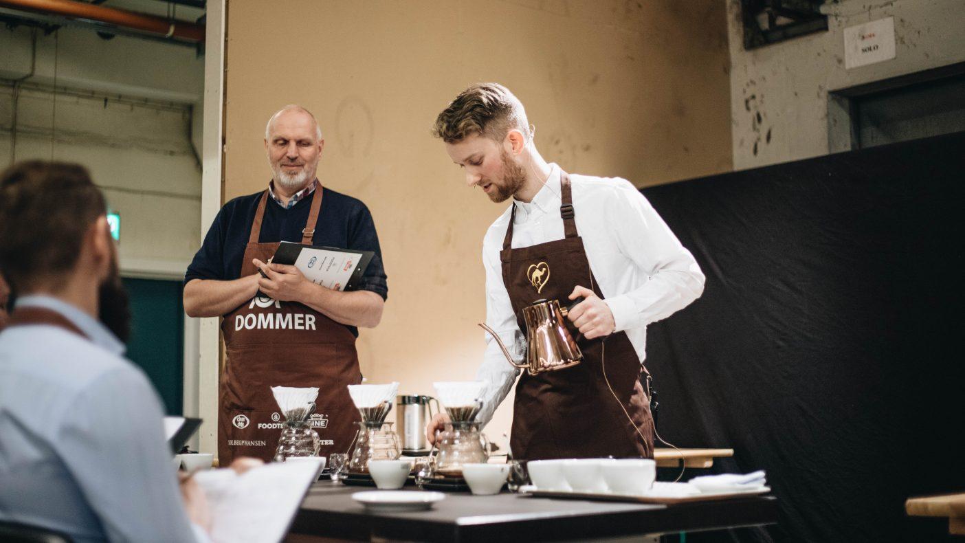 Dromedars Adrian Berg (29) deltok i sitt sjette NM og nådde endelig til topp i den klassiske baristakonkurransen.