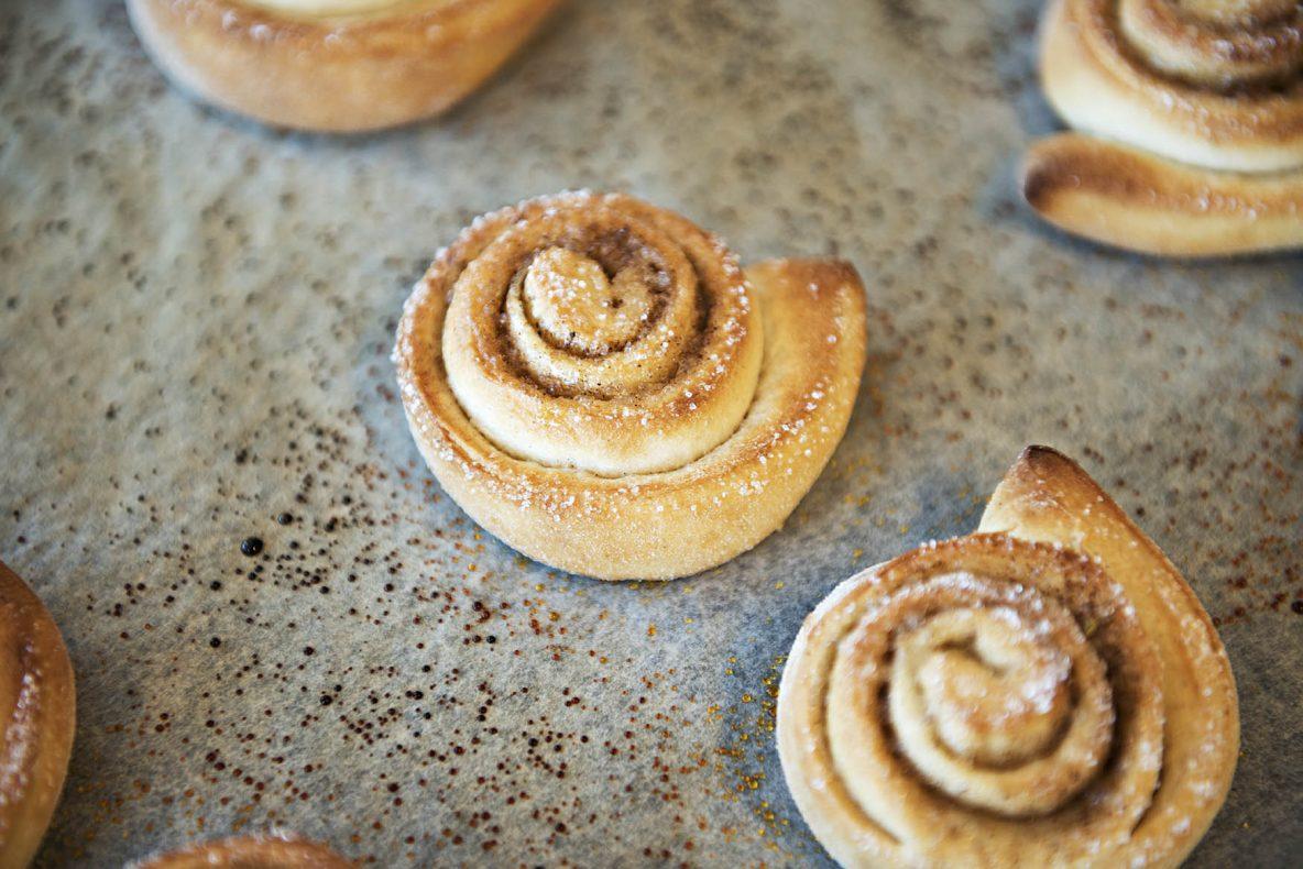 Kanelsnurrer var populært blant elevene ved Mjær ungdomsskole i forbindelse med «Vi baker og smaker».
