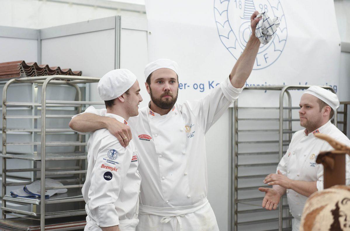 Bakergutta, Nikolai Meling, Erlend Løken Volden og Ivar Bakke, fikk 3. plass totalt under Nordic i Oslo 2016.