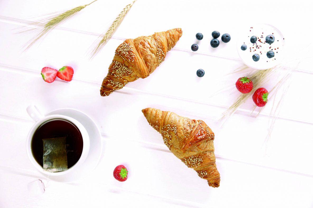 Pals lanserer en vegan-croissant som er bakt med spelt og quinoa. Foto: Pals