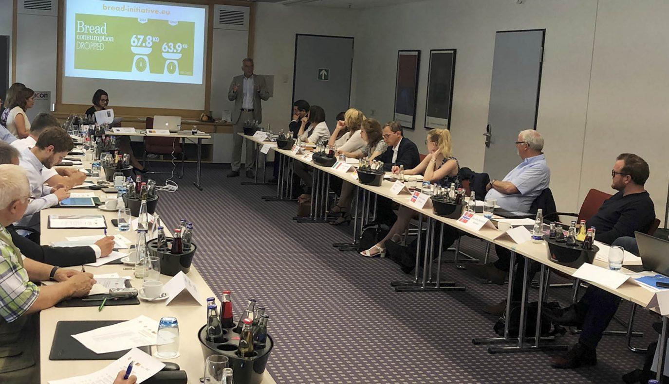 President i BKLF, Ole John Berntsen, styremedlem Rune Valestrand og direktør Gunnar Bakke, var tilstede på Bread Initiative i München.