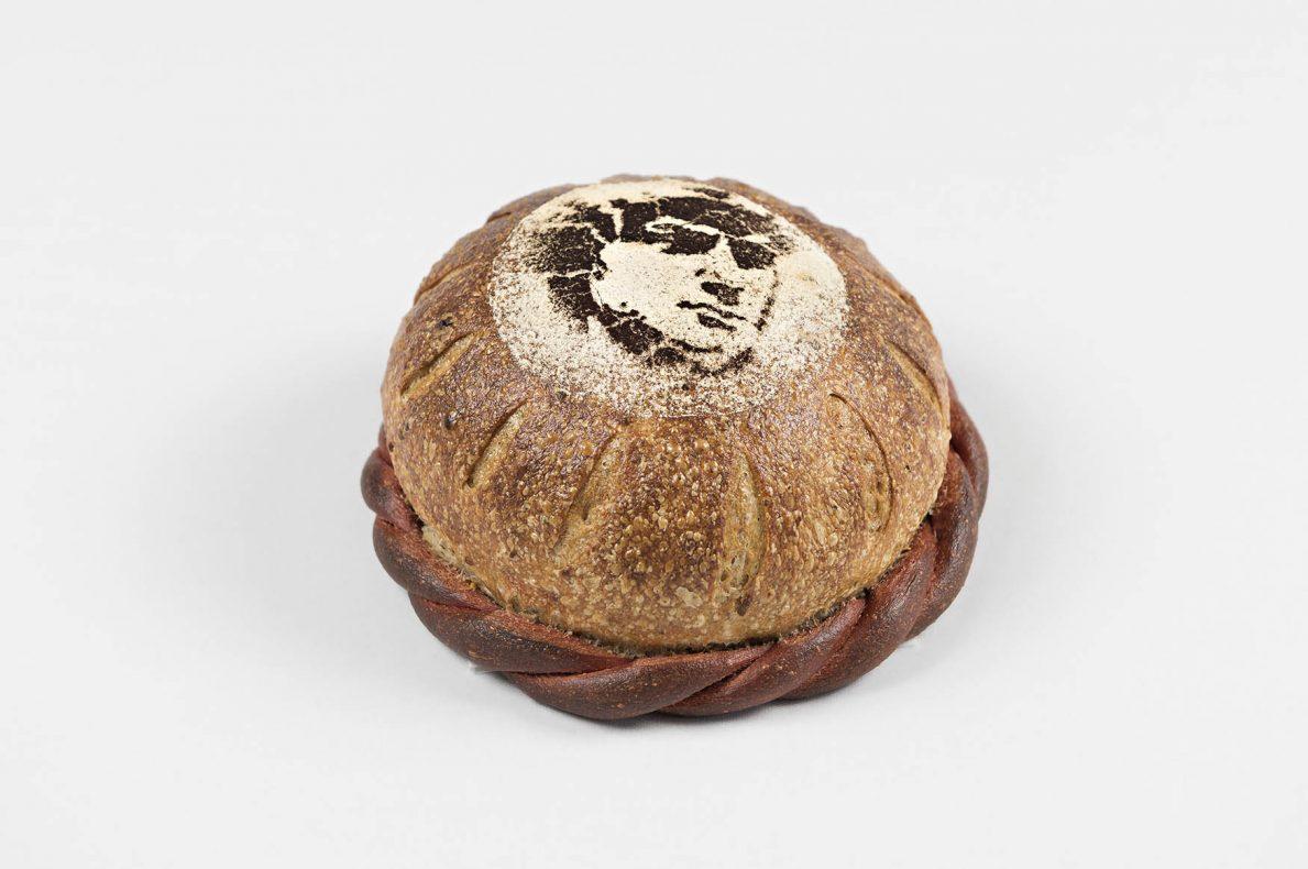 Dette surdeigsbrødet med grønn pepper og hvit geitost var en av hoveddommer Günther Koerffer absolutte favoritter i Nordic Bakery Cup 2019.