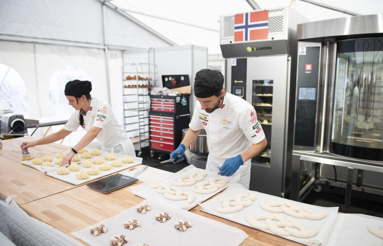 Trude Beate Brendehaug og Fredrik Lønne i aksjon under Nordic Bakery Cup 2019.