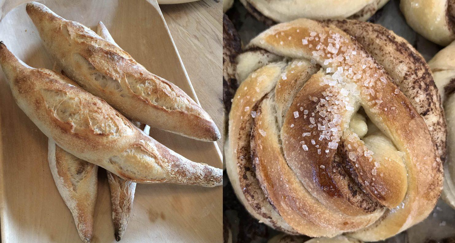 Det er ikke bare brød som selges i mikrobakeriet på Skarnes. Både småbakst og søtbakst, samt kaffe og ferdigsmurt, selger godt.
