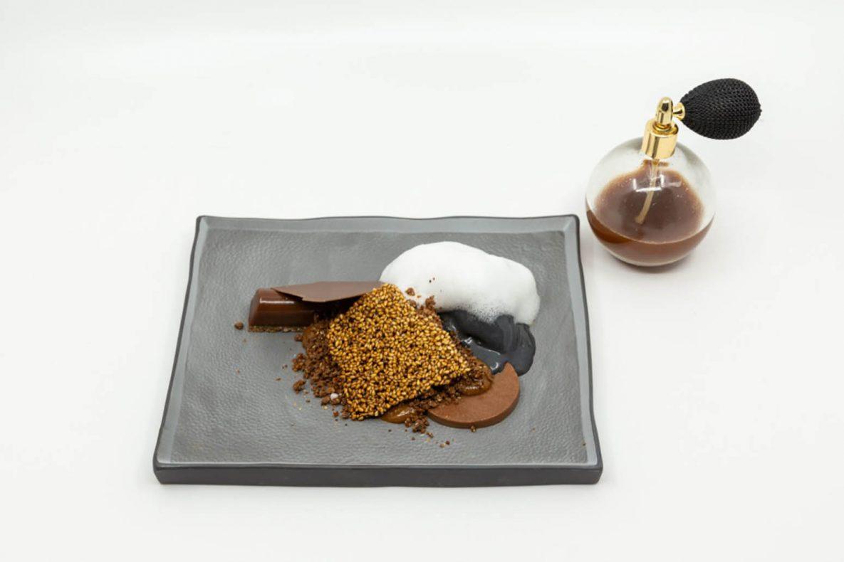 Med desserten Maria vant Jared EM i Paris. Desserten er inspirert av orkanen Maria som traff Karibien for noen år siden. Den består av Bahibe sjokolade: mousse, gele, cremeux og ganache. Strøss er laget av stekt bahibssjokolade og sesam. Også svart sesam og bambus kullis og kalk- og romskum. Bordservering med en parfymespray av brent kakaosnitte tilsatt dominikansk rom.