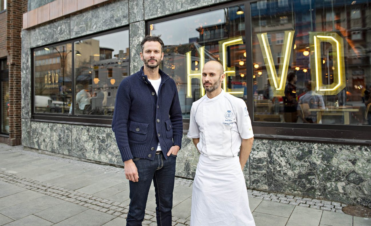 FINALIST: Hevd Håndverksbakeri i Trondheim. Fra venstre Michael Minervini og Emanuele Spreafico.