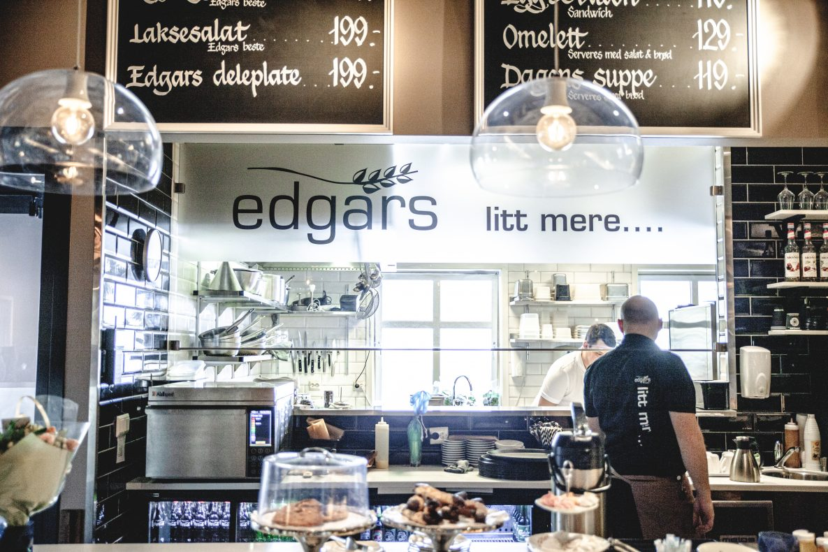 Edgars – litt mere byr på litt mere enn en tradisjonell Edgars Bakeri-filial.