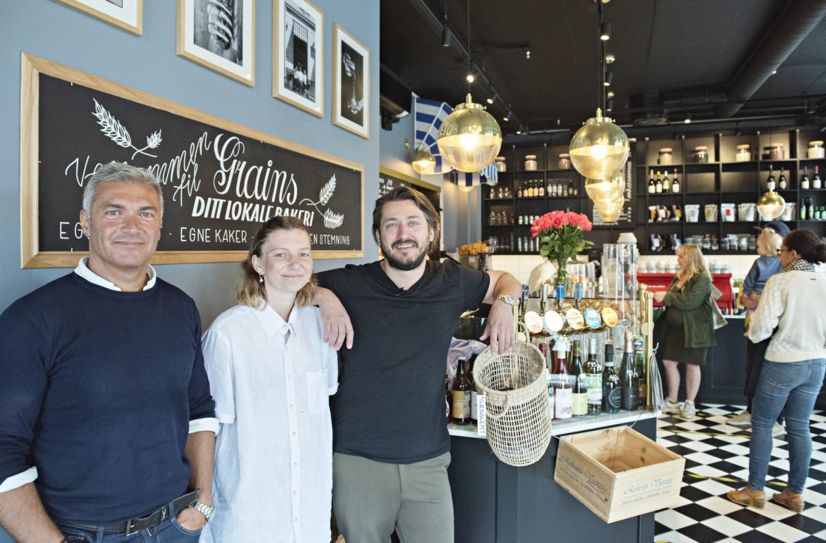 Eierne av Grains, f.v: Fredreric Aguerre, Mathilde Hynne og Dan Alexander Nypan.