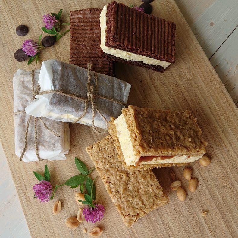 I sommer byr Ingelsrud Konditori for første gang på egenprodusert sorbet og sandwich-iskrem.
