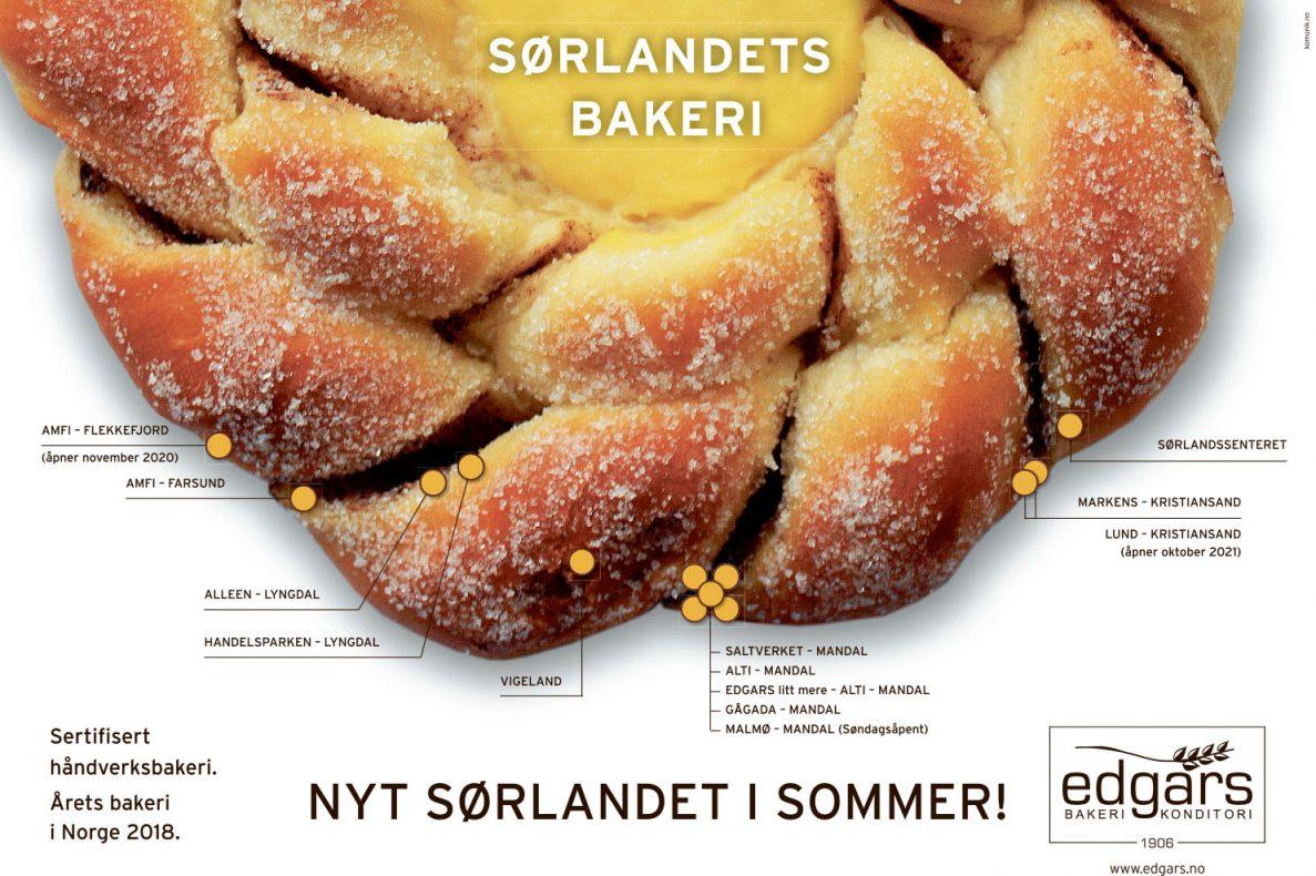 Edgars Bakeri sin sommerkampanje over to sider i avisene på Sørlandet har gitt kjemperespons.