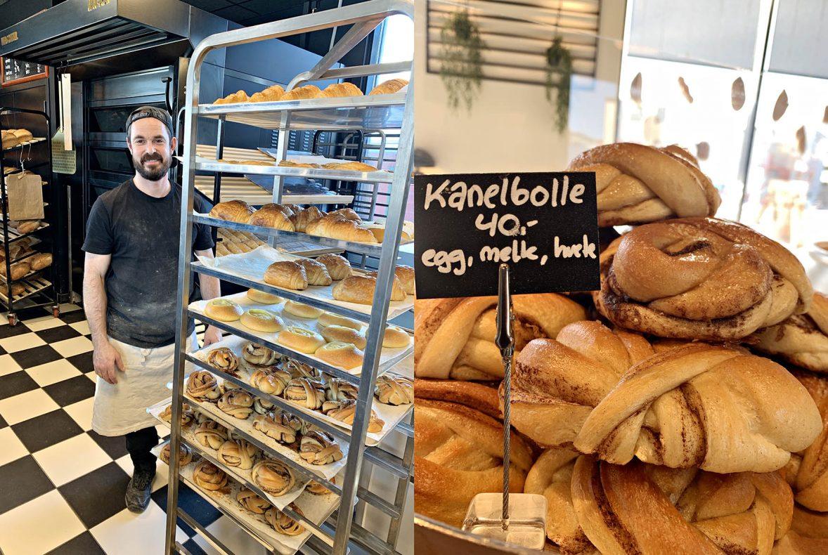 Kanelboller er bestselger i Vervet Bakeri. Baker Joselyn Lamon sørger for at alle produktene har høy kvalitet.