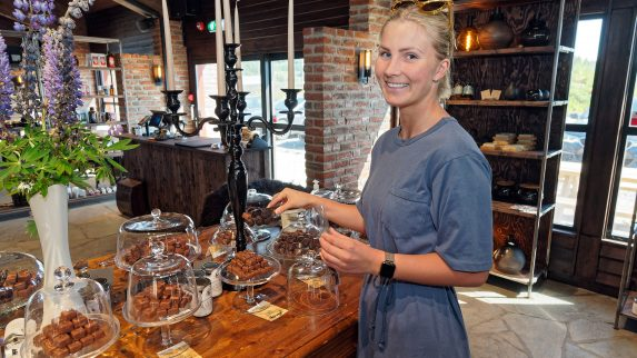 Sjokoladefabrikk på utstilling