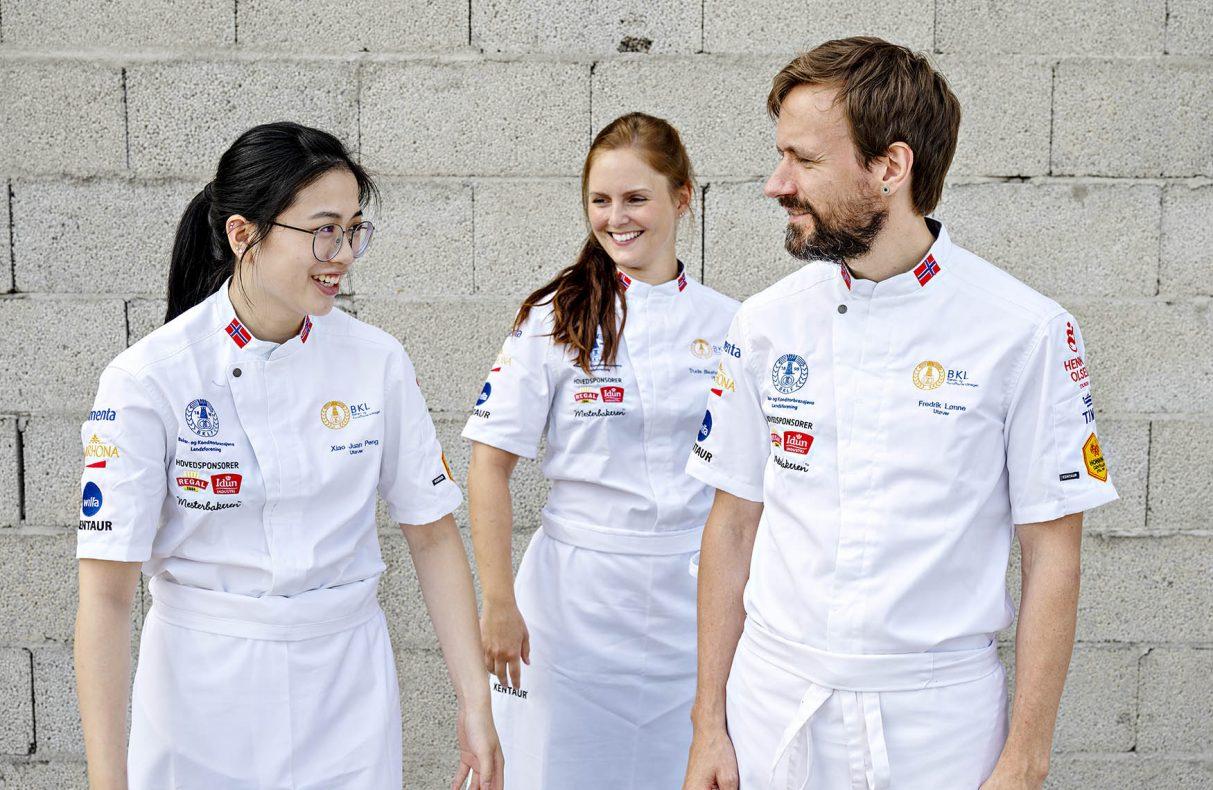Disse skal til VM. F.v: Xiao Juan Peng, Trude Beate Brendehaug og Fredrik Lønne.