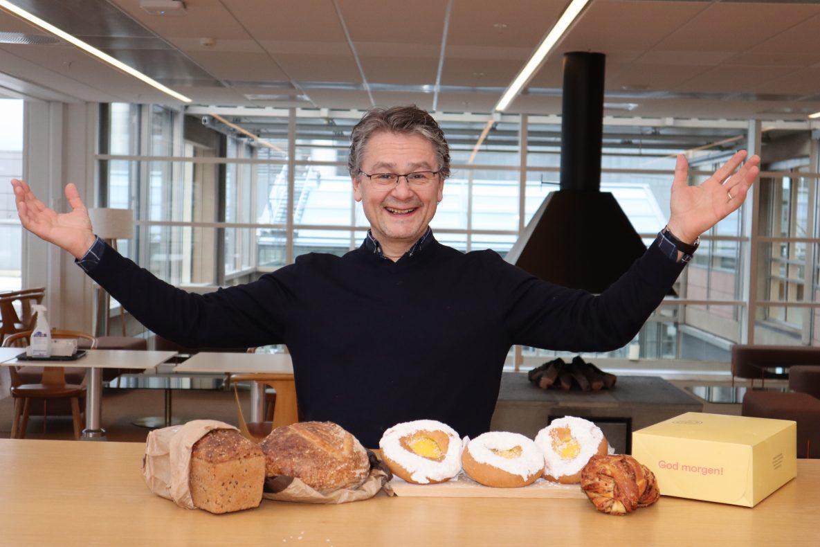 Daglig leder Håkon Liland i Morgenlevering jubler over solid vekst.